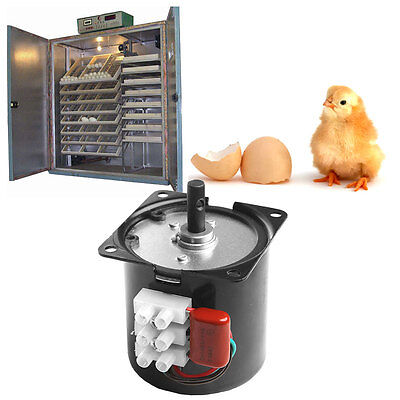 220V Automatic Incubator Eggs Hatcher Engine Reversible Geared Motor 2.5r/min