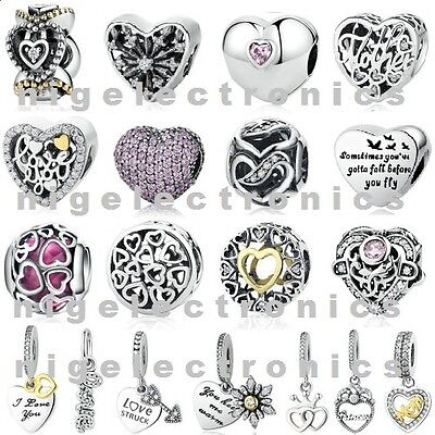 Authentic 925 Sterling Silver I Want Your Love Charm Bead fit European Bracelet