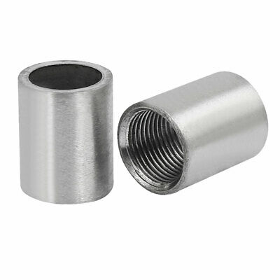 3/8BSP Stainless Steel Female Thread Weld On Straight Joint Nozzle Adapter 2pcs