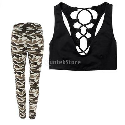Women Yoga Suits Sport Sets Leggings Fitness Clothes for Dancing Gym L