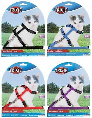 Trixie Nylon Kitten Small Cat Walking Harness Jacket Lead Set Fully Adjustable
