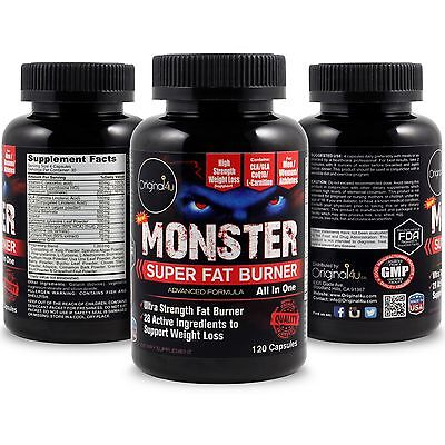 Monster Super Fat Burner (All In One) - For Men / Women / Athletes - Made In Usa