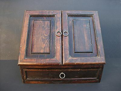 Arts & Crafts Mission Style Wood Box for Recipe File Card Document Letter Storag
