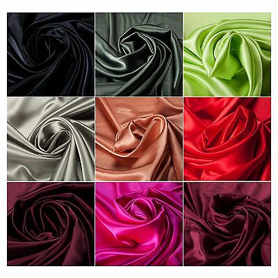 100% Polyester Satin Quality Fabric Shiny Lining Lingerie Clothing Crafts