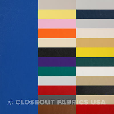 Marine Vinyl Fabric - Faux Leather - Boat Auto Outdoor Upholstery - 33 Colors