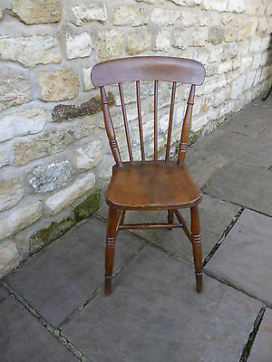 Victorian Kitchen/Dining Chair, Spindle Back, Elm + Beech