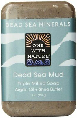 One With Nature Dead Sea Mud Dead Sea Minerals Soap, 7 Ounce Bar