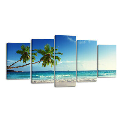 Canvas Print Painting Picture Home Decor Wall Art Blue Seascape Landscape Framed