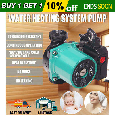 "3 Speed Solar Hot Water Circulation Pump Booster Heating System 65L/Min 1.5"" BSP"