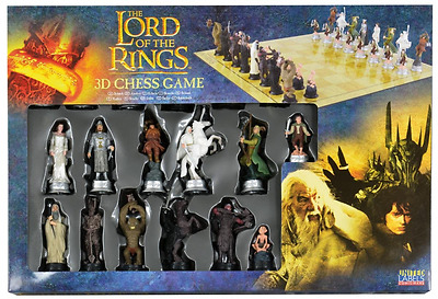 Signore degli Anelli Scacchi con 32 Figure Lord of the Rings 3D Chess Characters