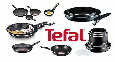 Tefal Essential & Ingenio Frying Pot Pan Saucepan Wok Lid Egg Pan Cookwares Set