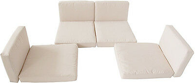 Replacement Cushions 8pc For Rattan Garden Furniture Seater Cover Beige Washing