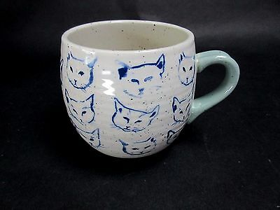 Hand Painted Cat Study Mug By Leah Reena Goren Blue Cat Sketches Faces