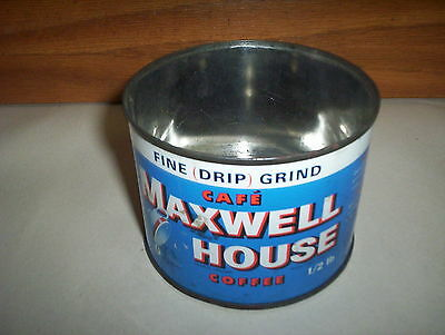 Vintage Maxwell House 1/2LB Coffee Tin Can Canada by General Foods Ltd