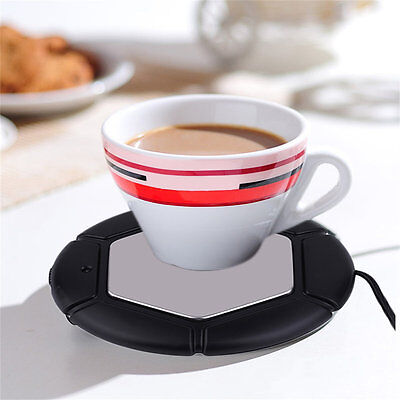 Desktop Tea Coffee Cup Mug Pad USB Warmer Heater USB Heat Preservation Mat ID