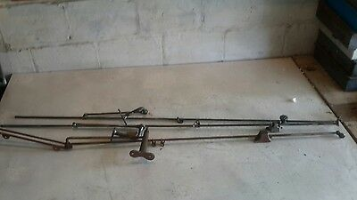 Antique Transom Window Rod Opener Mechanism Hardware lot of3