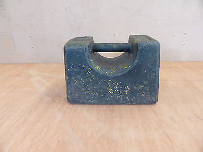 Vintage cast iron 56lb weight stamped E.R with crown