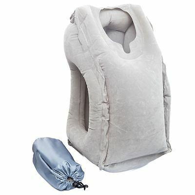 Luxburg® Travel Pillow Head Rest Neck Support Natural and Comfort - Grey