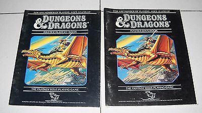 D&D DUNGEONS & DRAGONS SET 4 Black REGOLE MASTER DM'S Book PLAYER'S TSR 1985