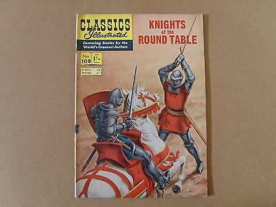 CLASSICS ILLUSTRATED  No. 108 (1955) - KNIGHTS OF THE ROUND TABLE