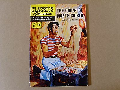 CLASSICS ILLUSTRATED  No. 21 (1953) - THE COUNT OF MONTE CRISTO by A. DUMAS