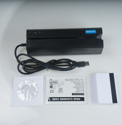 USB-Power MSR605X Magnetic Stripe Credit Card Reader Writer Encoder Swipe MSR206