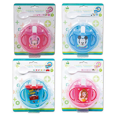 Baby 3 Piece Feeding Set - Bowl, Spoon & Sippy Cup - Disney Character Designs