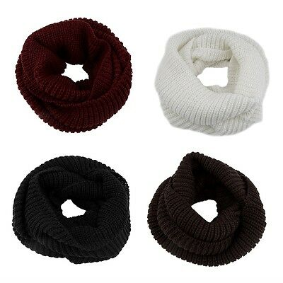 Women's Winter Warm Infinity 2Circle Cable Knit Cowl Neck Long Scarf Shawl ID