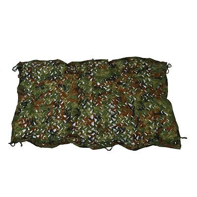 "1mx2m 39*78"" Woodland Camouflage Camo Net Cover Hunting Shooting Camping Army I5"