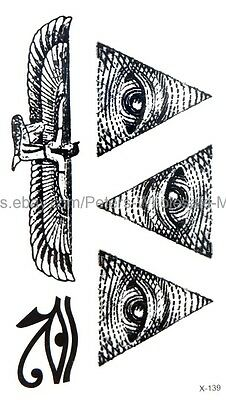 US SELLER, ancient Egyptian eye of Horus temporary tattoo Body Art Decal