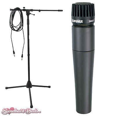 Shure SM57 Dynamic Instrument Microphone with Boom Stand and Cable