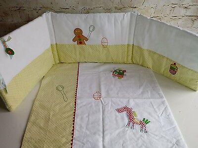 Mamas & Papas Gingerbread Crib Set Bumper and Quilt/Coverlet