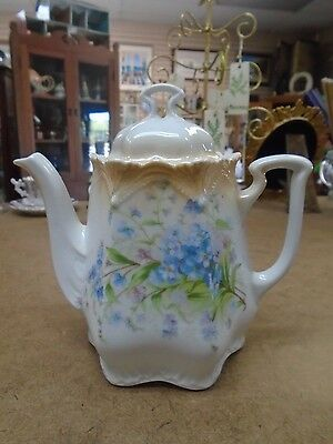 Antique Germany Teapot - Floral Chocolate Pot