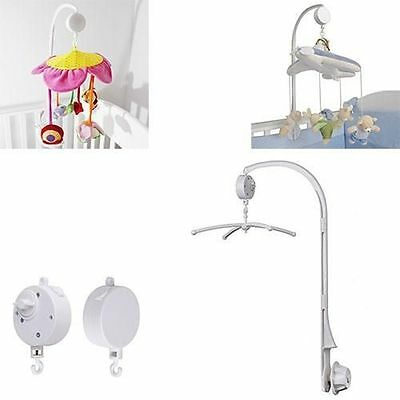 Baby Crib Mobile Bed Bell Toy Wind-up Music Box Holder Arm Bracket Nut Screw
