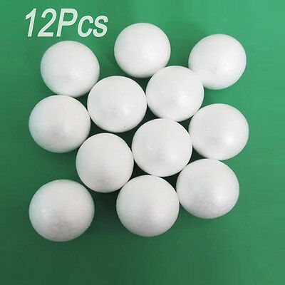 12Pcs 67mm Polystyrene Foam Ball Christmas Party decoration DIY Craft Adornment