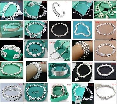 Wholesale Fashion jewelry 925SILVER Womens Bracelet/bangle & Box for Gift