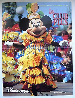 "Ancien Magazine ""Le Club Plus"" N°8 / Aout 1996 / Disneyland Paris"