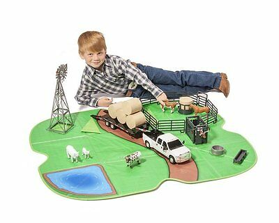 Brand New Big Country Toys Farm Model Horse Large Play Mat & Toy Box 436 1:20