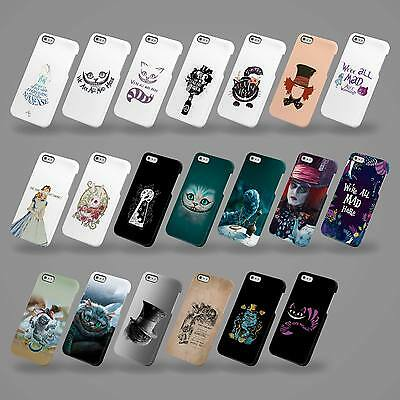 Hard Cover Case For Iphone 4 5 6 7 Se & Samsung Disney Alice In Wonderland