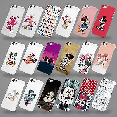 Hard Cover Case For Iphone 4 5 6 7 Se & Samsung Disney Mickey & Minnie Mouse