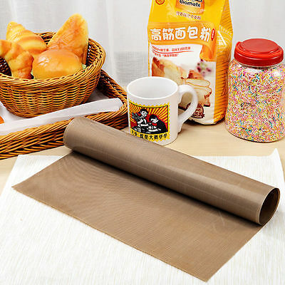 Reusable Pastry Baking Paper Tray Oven Rolling Kitchen Bakeware Mat Sheet Cloth