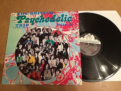 THE BRITISH  PSYCHEDELIC TRIP VOL.2  LP 1987 SEE FOR MILES RECORDS UK see 66 N/M