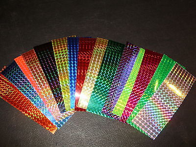 "2"" x 6"" 3PK Flasher/Dodger/Lure Reflective Holographic Prism Fishing Lure Tape"