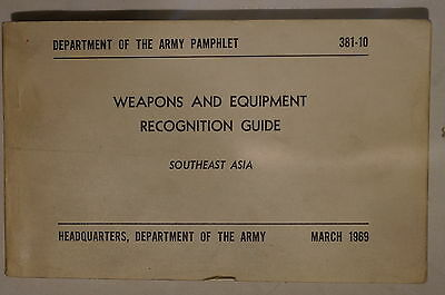 US Weapons & Equipment Recognition Southeast Asia March 1969 Reference Book