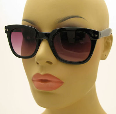 New Unisex Mens Womens Vintage 50's Style Black Sunglasses