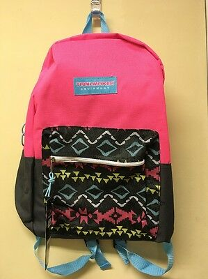 0455c63c76 Trailmaker Pink Gray Aztec Print Backpack Padded Straps Front Pocket  Lightweight