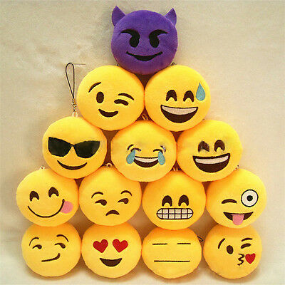 1PC Interesting Emoji Emoticon Smiley Face Keychain Pendant Bag Accessories
