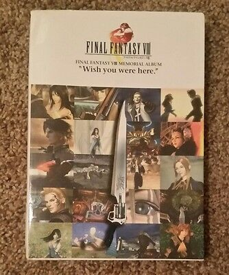 "Final Fantasy VIII Memorial Album ""Wish you were here"" Japanese Book US Seller"