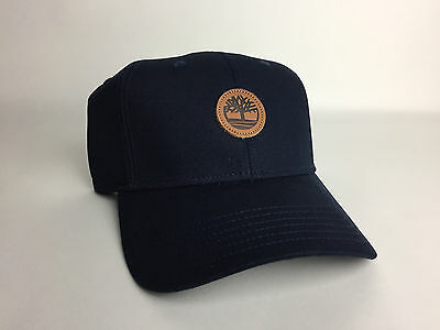 New Timberland Men's Baseball Cap Dad Hat Logo Navy One Size