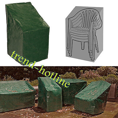 Durable Waterproof Green Garden Stacking Patio 2-4 Chairs Dust Protection Covers